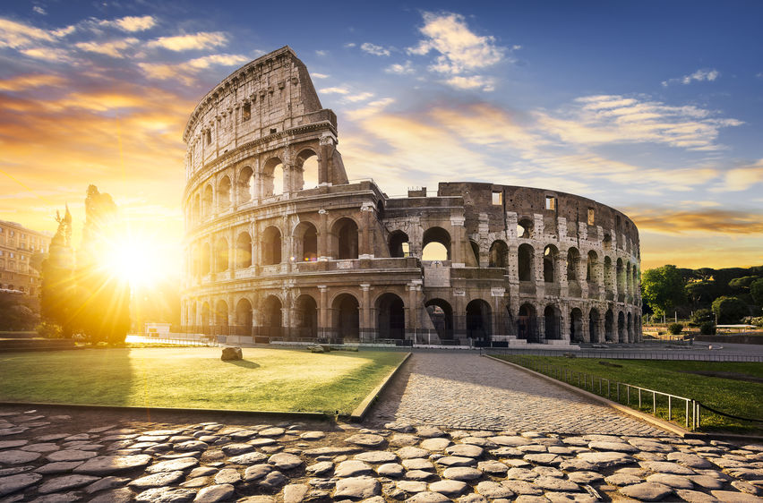 Rome and Colosseum, Italy